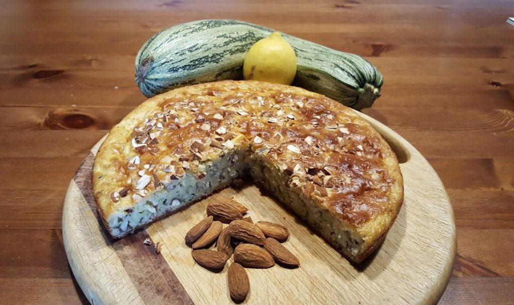 Gâteau courgettes amandes